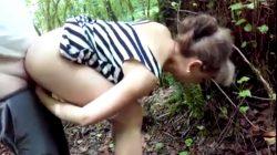 Señora Urgida Cogida por Joven en Medio del Bosque. La Madurita Estaba Bien Deseosa de Verga