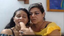 Cachondas maduras lesbianas en webcam