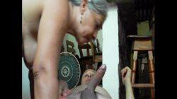 Señora solitaria bien cachonda coge con su vecino